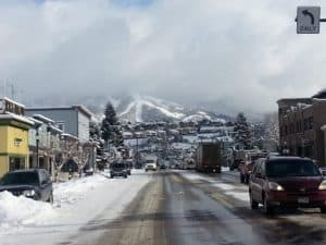 winter in the rockies in an rv