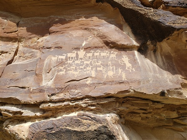 The Great Hunt Pictograph within Nine Mile Canyon
