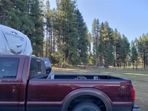 Plenty of open space at my Boondockers Welcome RV site in McCall